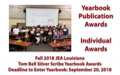 Fall 2018 JEA/Tom Bell Silver Scribe Yearbook Contest