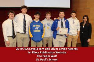 2019 Tom Bell Silver Scribe Award Winners
