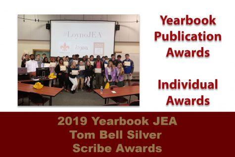Fall 2019 JEA/Tom Bell Silver Scribe Yearbook Contest